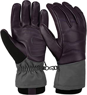 Vbiger Unisex Ski Gloves Windproof Waterproof Winter Gloves