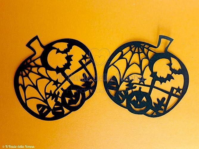Immagine Zucca Di Halloween 94.Set 2 Sagome Zucca Decorata Halloween Art 94 Amazon It Handmade