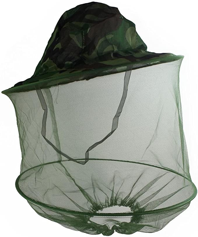 Anti-mosquito Bee Bug Insect Fly cover Cap Hat with Head Net Mesh Face Protect F