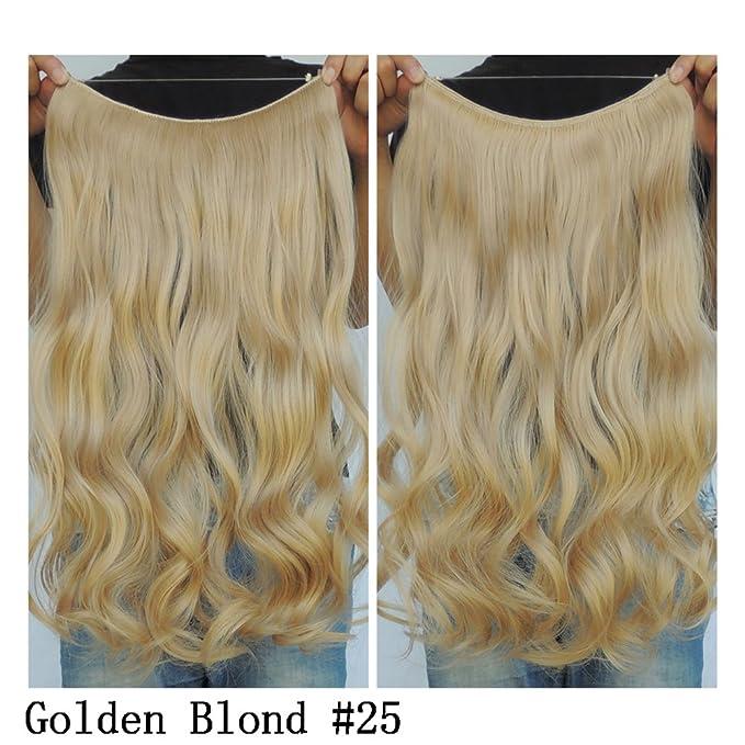 Extensiones Halo Hair de pelo rizado sintético, 51 cm: Amazon.es: Belleza