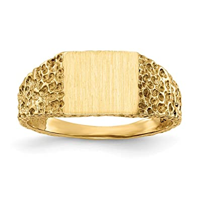 f6800370598d Roy Rosas joyería 14 K oro amarillo parte trasera abierta para mujer para  hombre diseño de ...