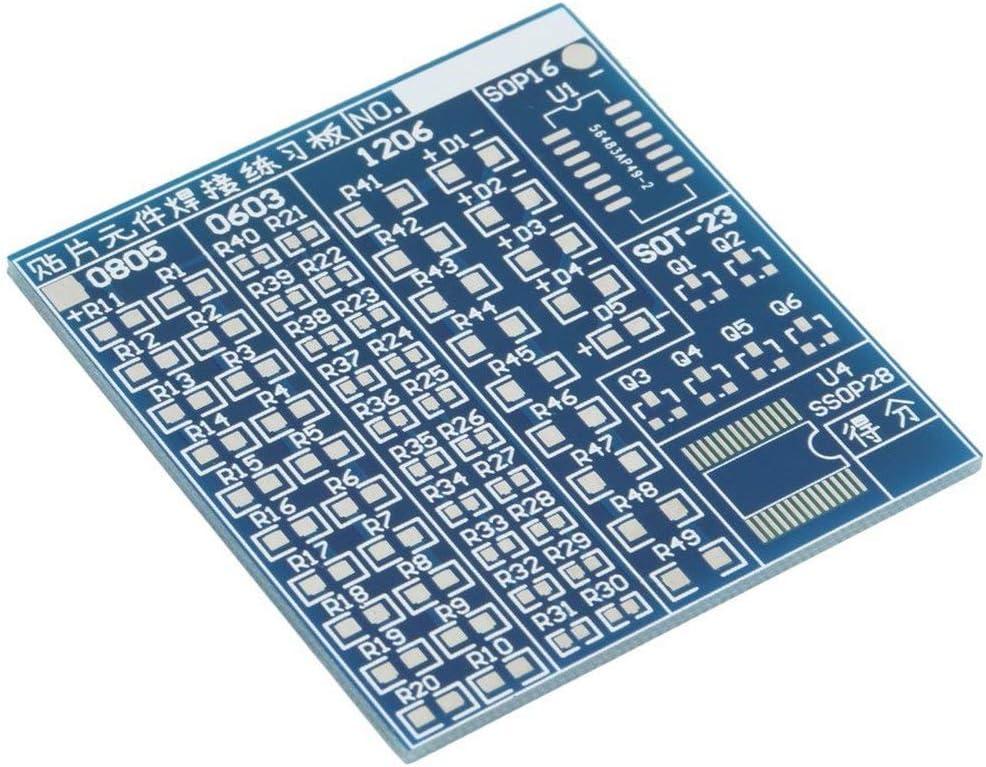 Bleu Durable 5 V SMT SMD Composant Conseil De La Pratique De Soudage Pratique De Soudure DIY Kit Mieux US57 5x4.8cm