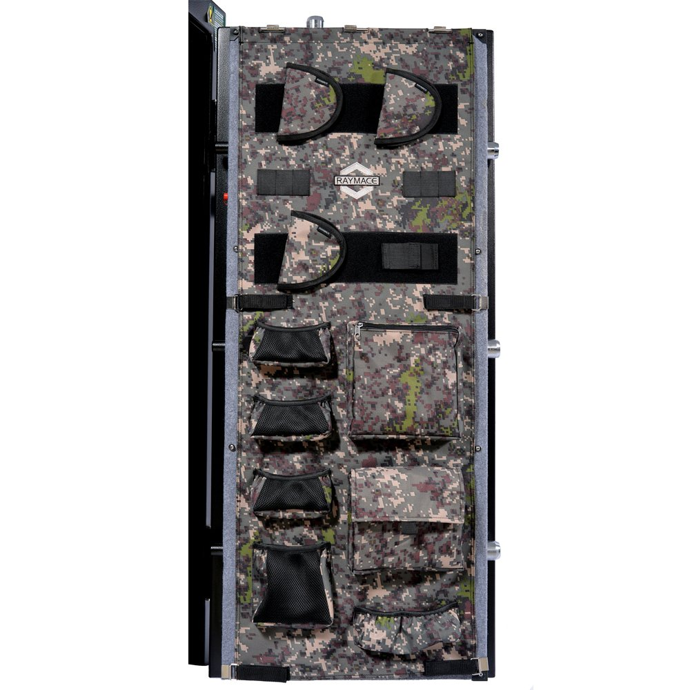 RAYMACE Large Gun Safe Door Panel Organizer 18 1/10W-21 1/2W inch49 3/5H inch Adjustable Storage Solution Long Gun Cabinets Camouflage