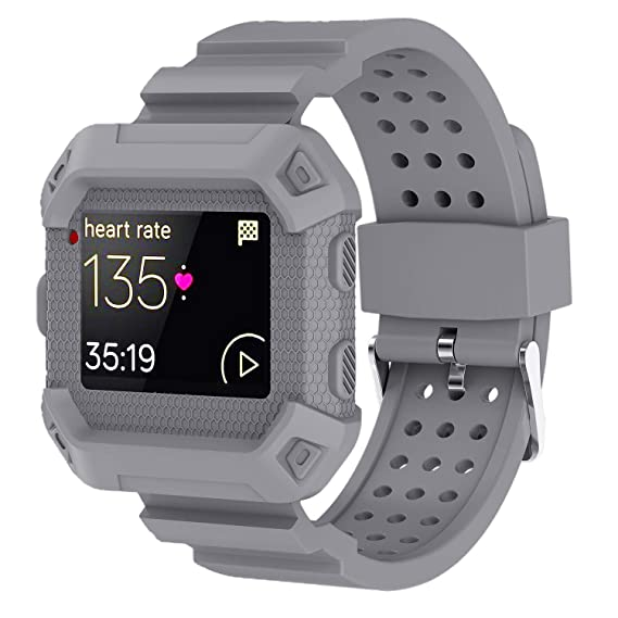 Moretek Blaze Accessories Band, Case Impact Protection Resilient Strap Bands Ultimate Protection from Drops and impacts for Fitbit Blaze ...