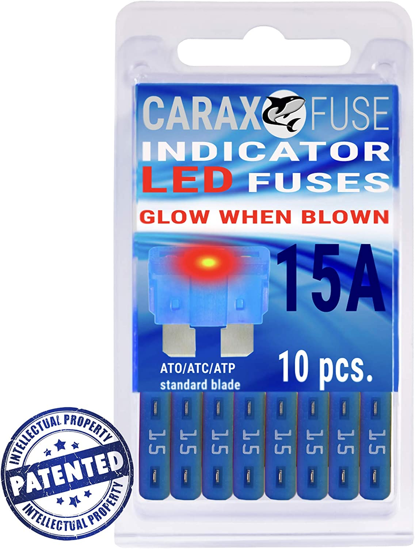 Fuse STANDARD blade smart regular fuse automotive 20 AMP LED Glow Blown ATO ATC