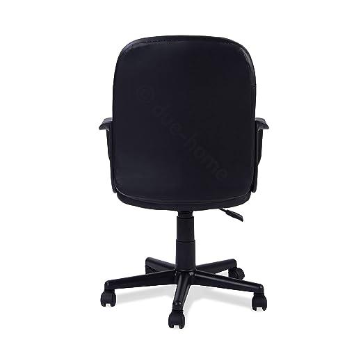Adec - Silla de Oficina giratoria Sillon despacho Escritorio Estudio con Brazos, Modelo Genseis, Color Negro
