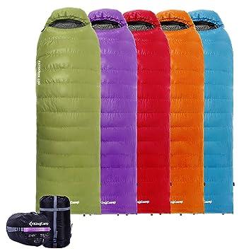 KingCamp - Saco de dormir de plumón (-21 °C) con cabecero (