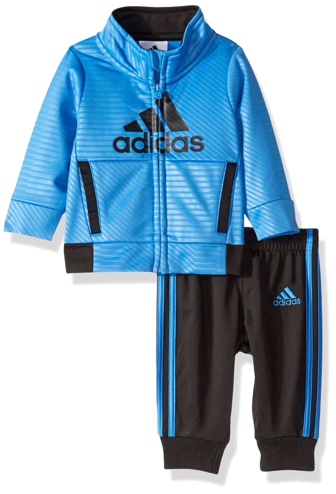 adidas Baby Boys BOS Tricot Jogger Tracksuit 2-Piece Set, Strong Collegiate Navy, 9 Months by adidas