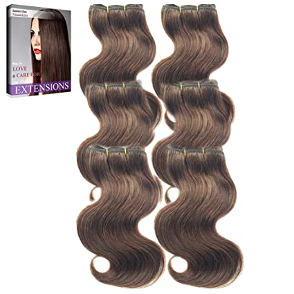 Emmet Las extensiones brasileñas del pelo humano de las pelucas de la onda del cuerpo de