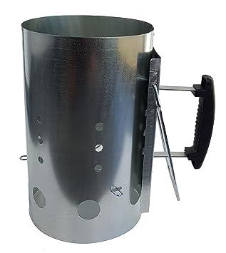 XXL metal Carbón Starter 19,5 cm de diámetro – Barbacoa Carbón Cigarrillos westerholdt –