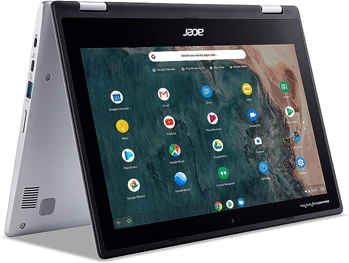 "Amazon.com: Acer Chromebook Spin 311 Convertible Laptop, Intel Celeron N4020, 11.6"" HD Touch, 4GB LPDDR4, 32GB eMMC, Gigabit Wi-Fi 5, Bluetooth 5.0, Google Chrome, CP311-2H-C679: Computers & Accessories"