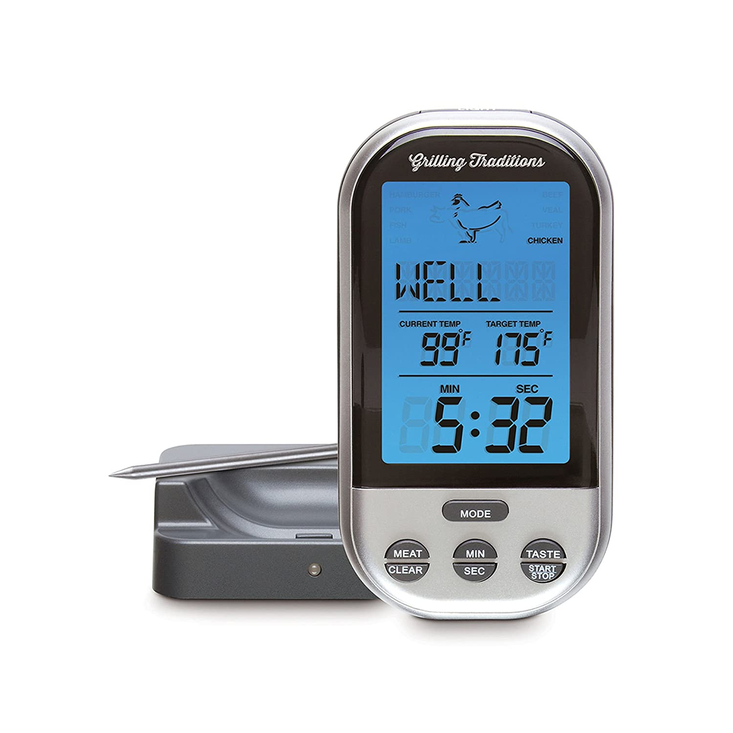 Amazon.com : Grilling Traditions Wireless Grill Thermometer : Garden U0026  Outdoor