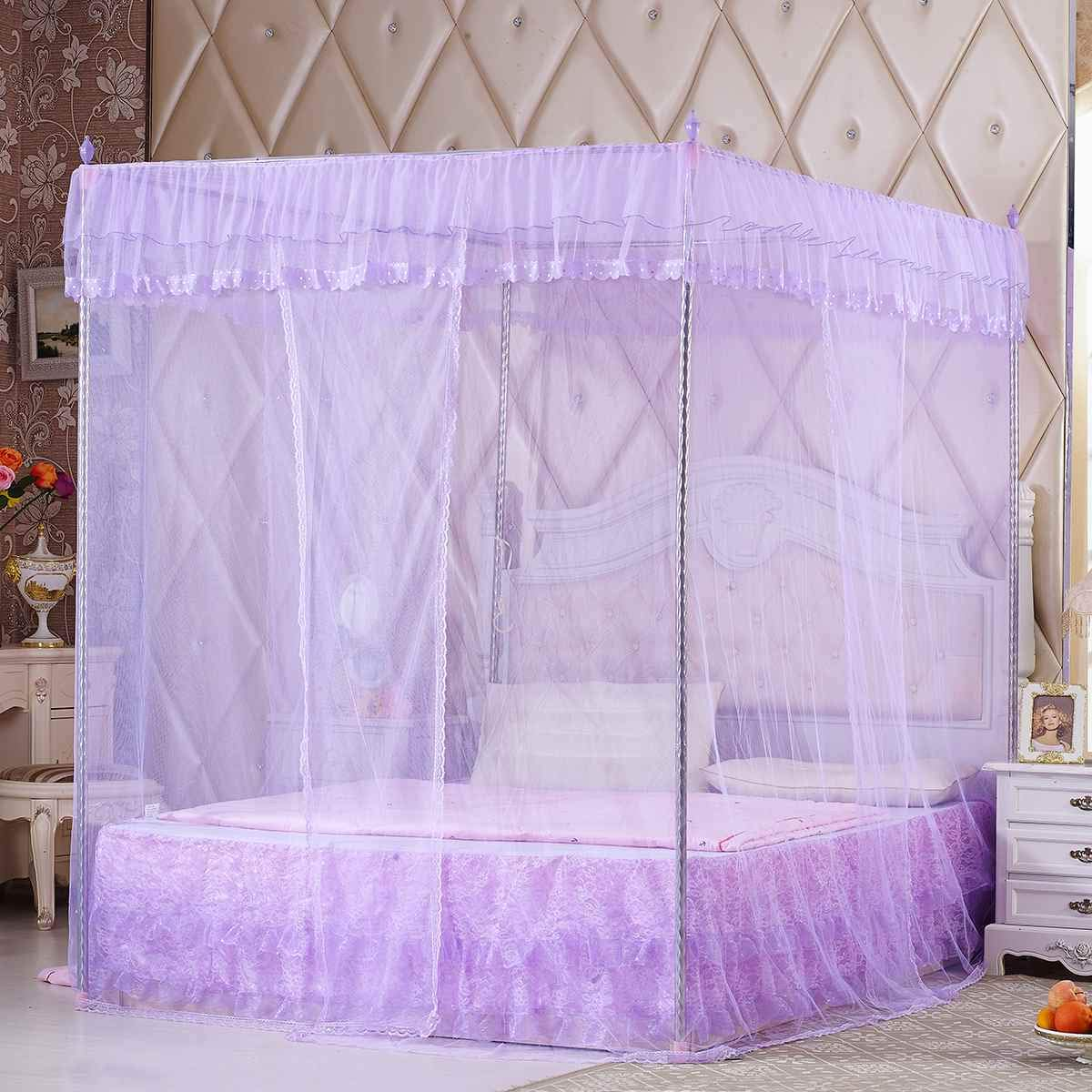 Mosquito Net - Summer Elegant Lace Insect Bed Canopy Netting Curtain Princess Bedding Bug Insect Repeller