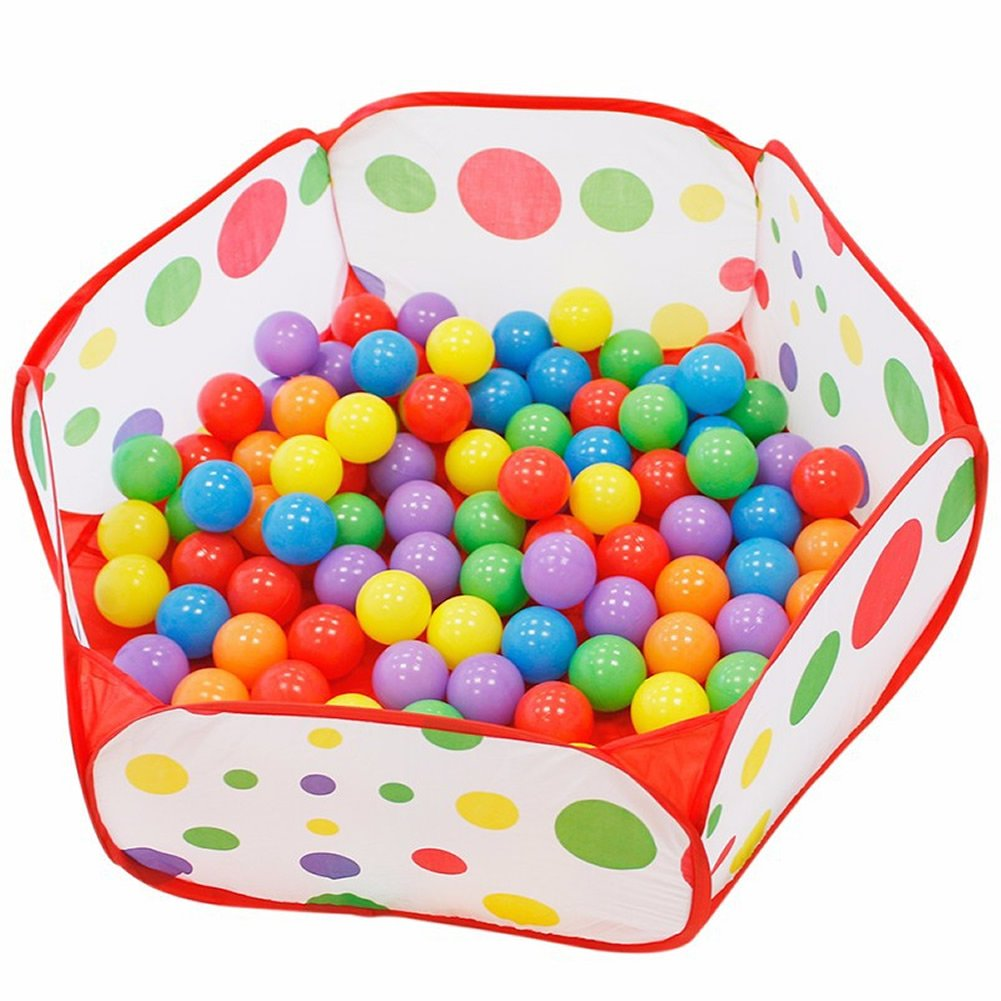 Allrise 0.9m Foldable Ocean Ball Pit Game Play Tent House, Children Toddlers Ball Pit Tent Sea Ball Pool Toy, Toy Storage Bag (Balls Not Included)