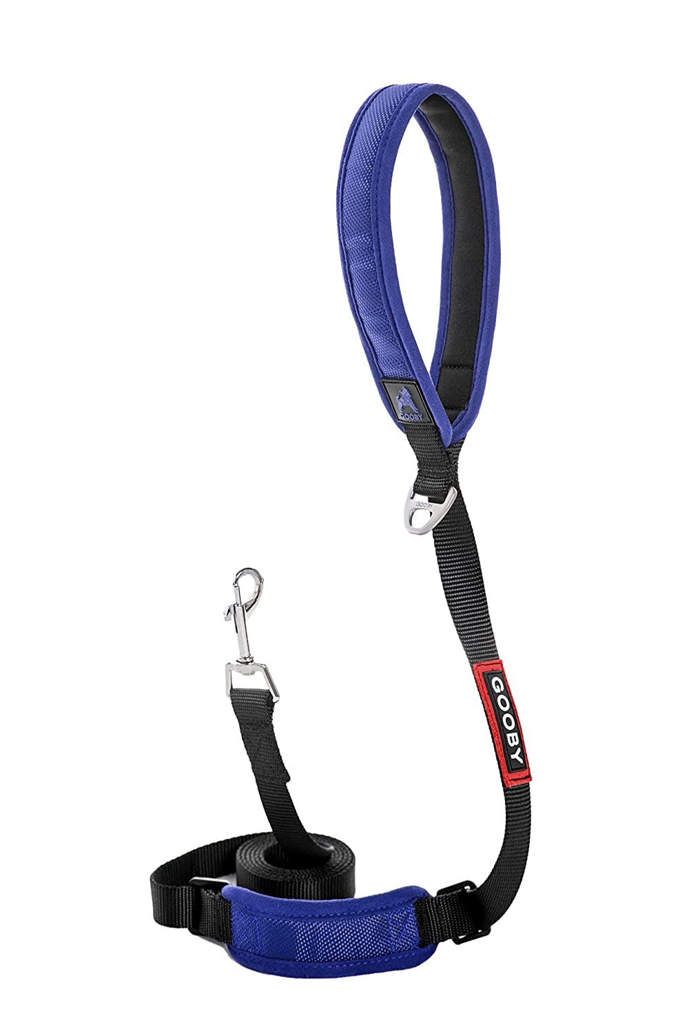 bluee Gooby Pioneer Leash, 6 Feet Padded Handle with Adjustable Traffic Control Short Handle Matchces with Pioneer Harness, bluee
