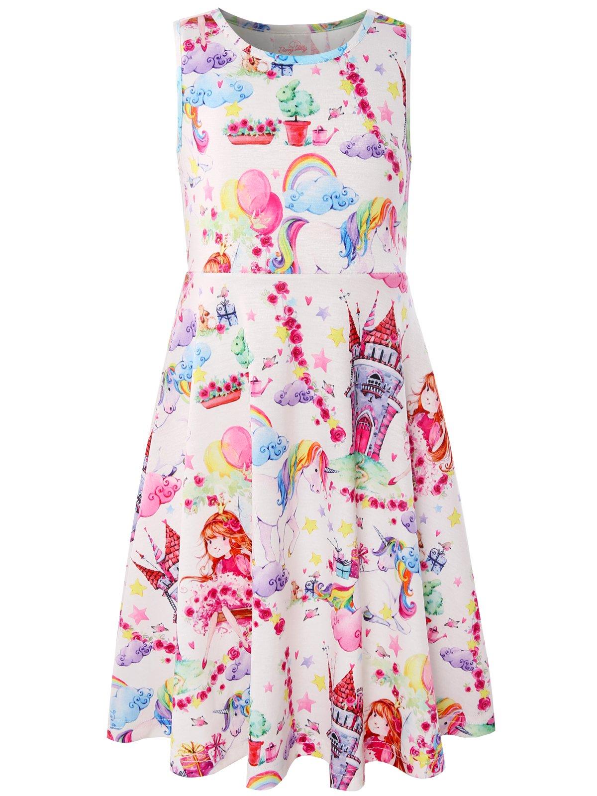 Bonny Billy Little Girls Dress Castle Party Casual Midi Kids Clothing Size 7-8 White
