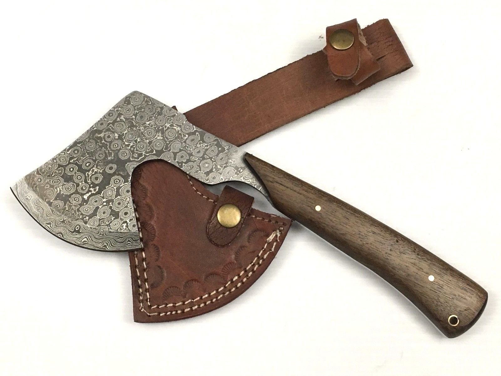 ASH BLADES Ash d015 damascus steel handmade hunting knife axe 11''