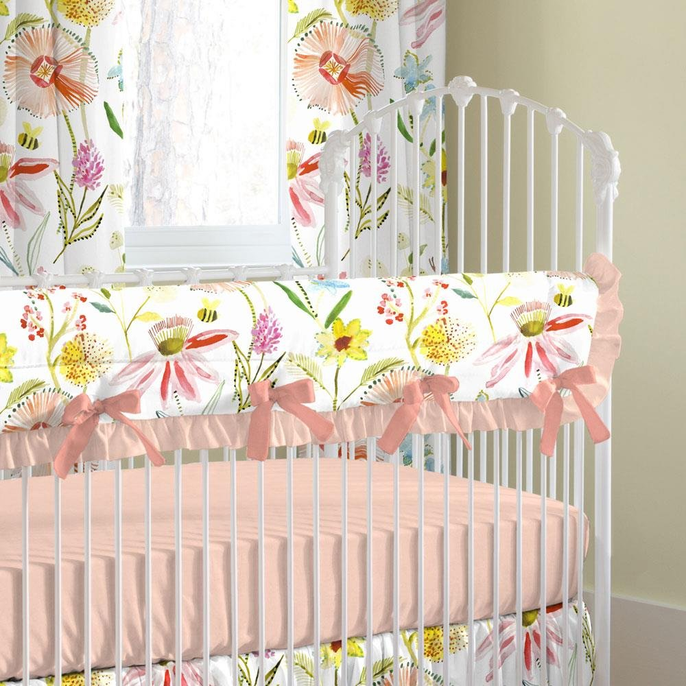 Carousel Designs Springtime Floral Crib Rail Cover by Carousel Designs