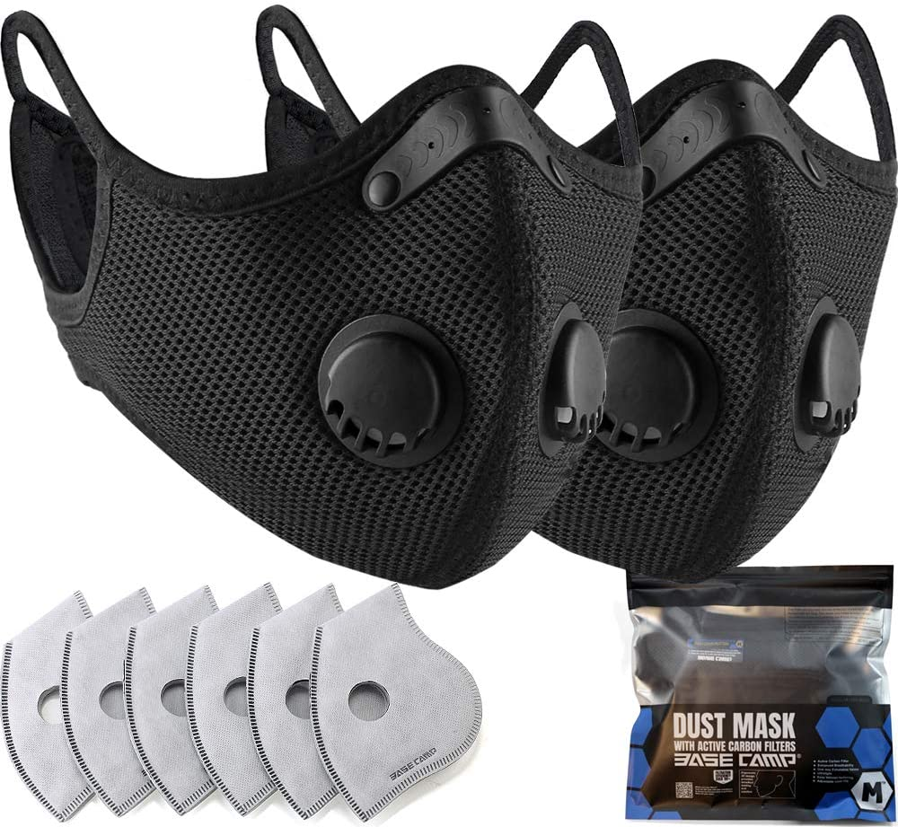 BASE CAMP M Plus Face Cover with Active Carbon Filter
