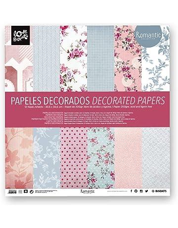BUSQUETS - Papeles decorados Scrapbooking 30,5x30,5
