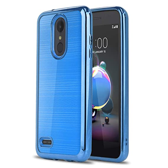 Phone Case for [LG Zone 4 (Verizon Wireless)], [Chrome Series][Blue]  Shockproof Soft TPU Rubber [Electroplated Bumper] Cover for LG Zone Optimus  4