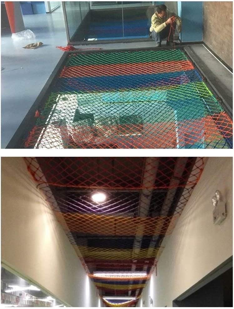Color : Yellow, Size : 4mm//6CM TorchJPA Color Protection Net Polyester//Nylon Material Stair Guardrail Anti-Fall Net Hanging Suspended Ceiling Climbing Net Household Nylon Rope Net Safe Net Rope Net