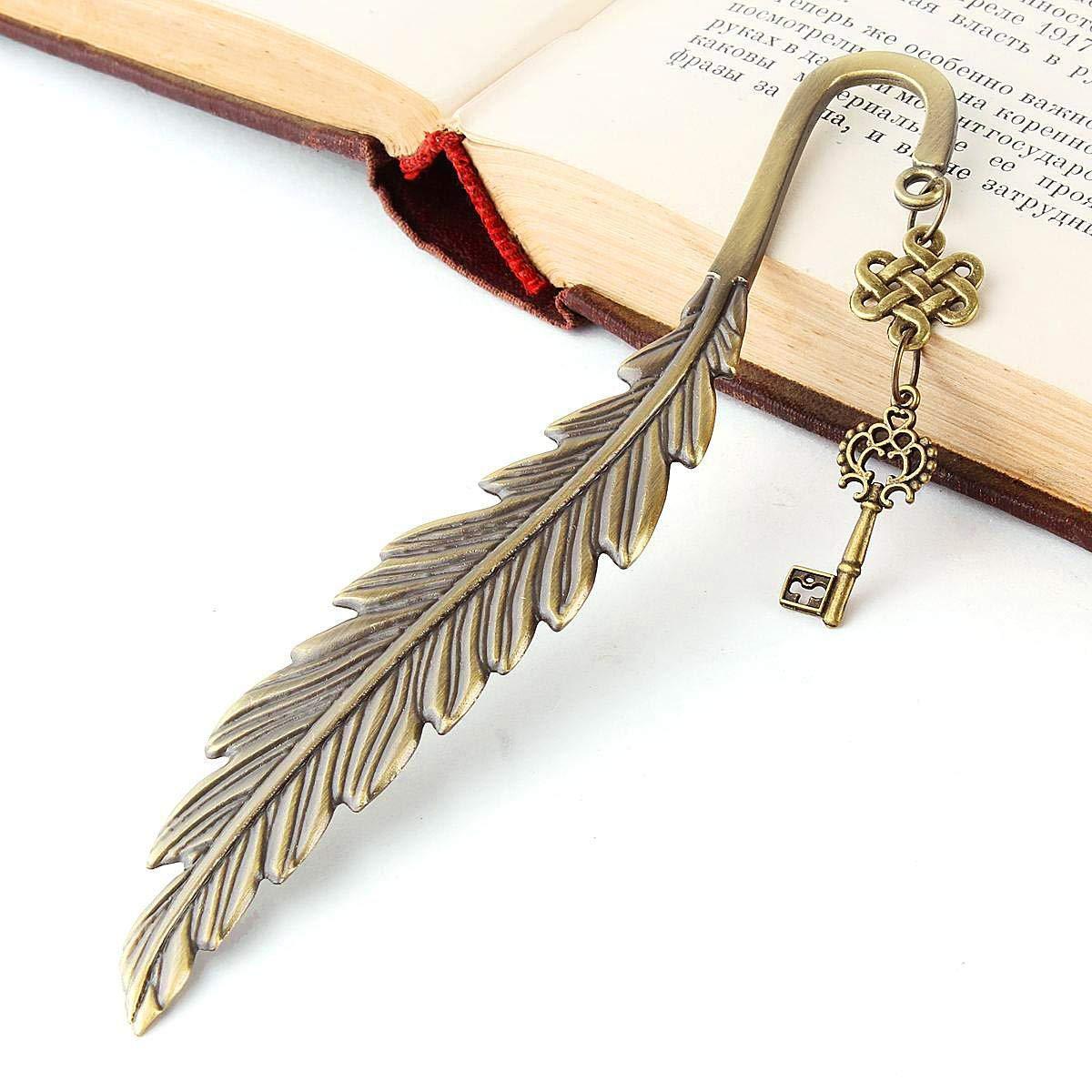 KAIKUN Bookmark Segnalibro in Metallo Segnalibro Graffetta Creativo Elegante Fatto A Mano Assortito Segno di Libro Vuoto Segnalibro