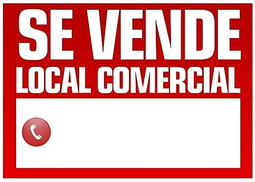 Wayshop | Cartel Se Vende Local Comercial | Medidas 50cm x ...
