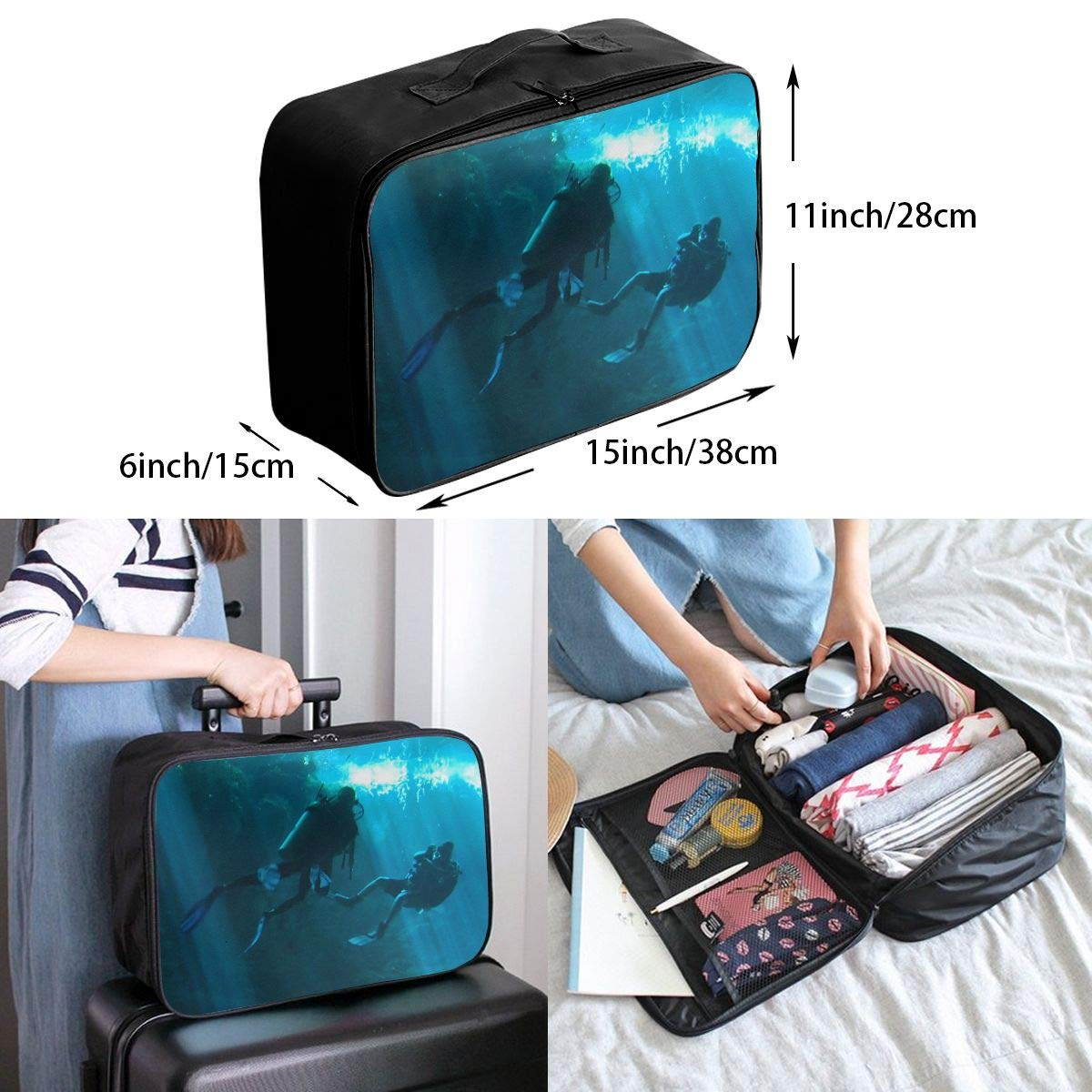 8 Travel Luggage Duffle Bag Lightweight Portable Handbag Skate Large Capacity Waterproof Foldable Storage Tote