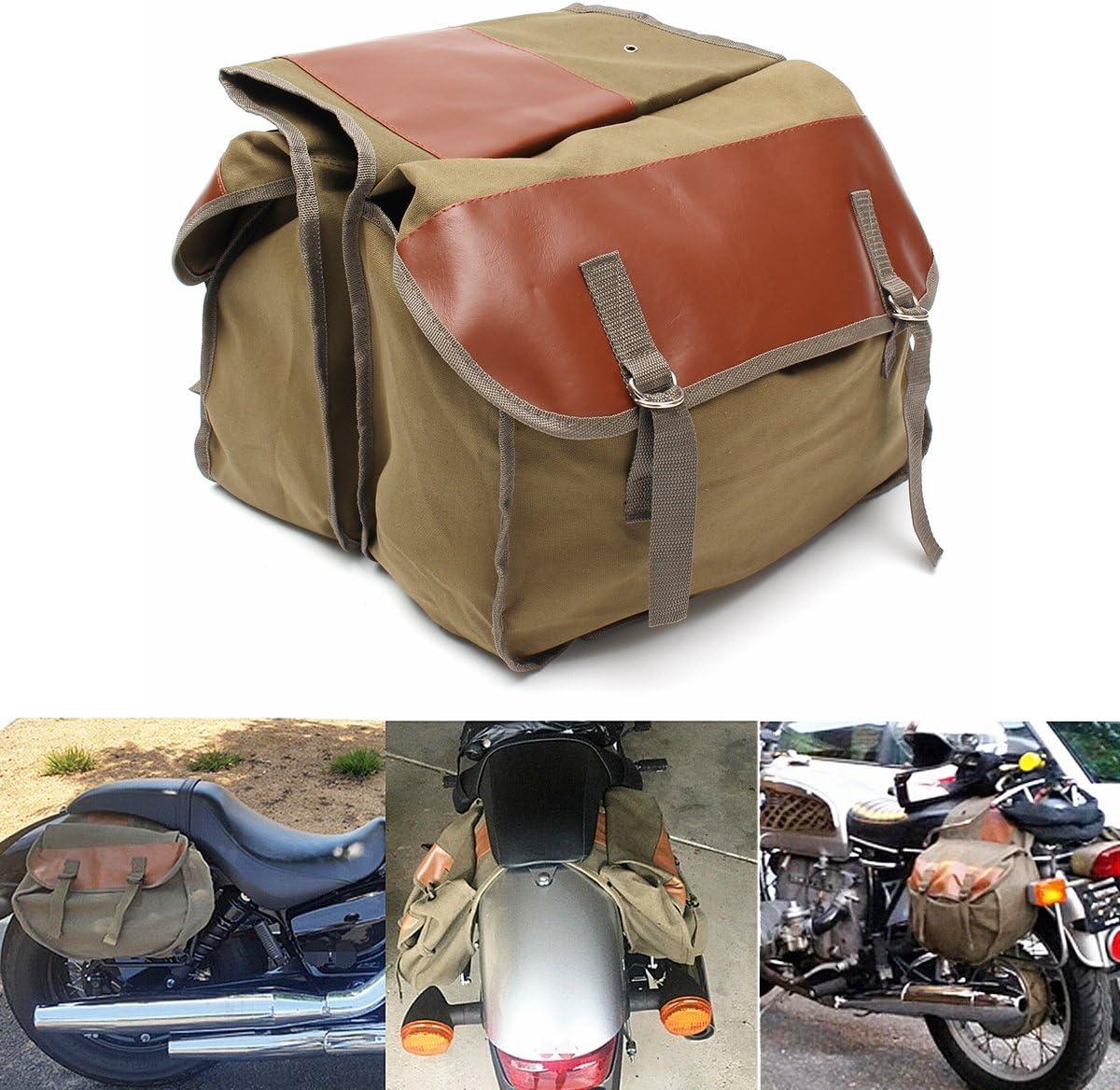 Alamor Lona De La Motocicleta Alforjas Volver Paquete Equino Para Haley Sportster/Honda