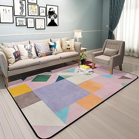 Amazon.com: Nordic estilo geométrico patrón alfombra ...