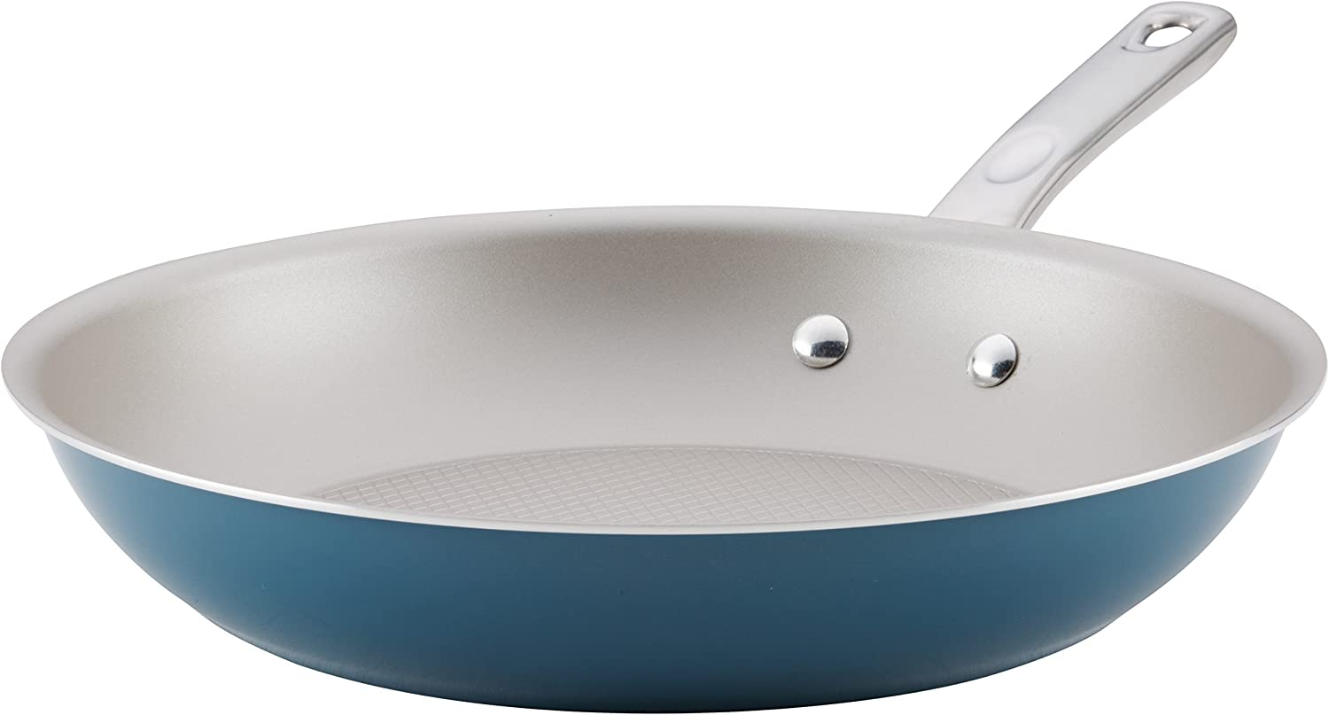 Ayesha Curry 10753 Home Collection Nonstick Frying Pan / Fry Pan / Skillet - 12.5 Inch, Twilight Teal Blue