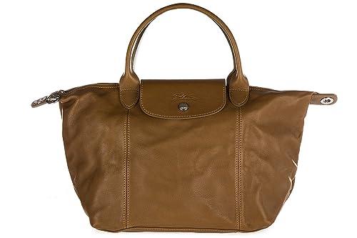 28c43a32ac555 Longchamp bolso de mano para compras en piel mujer nuevo marrón  Amazon.es   Zapatos y complementos