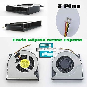 Fan Ventilador Nuevo Compatible para Toshiba DFS501105FR0T 3 Pins ...