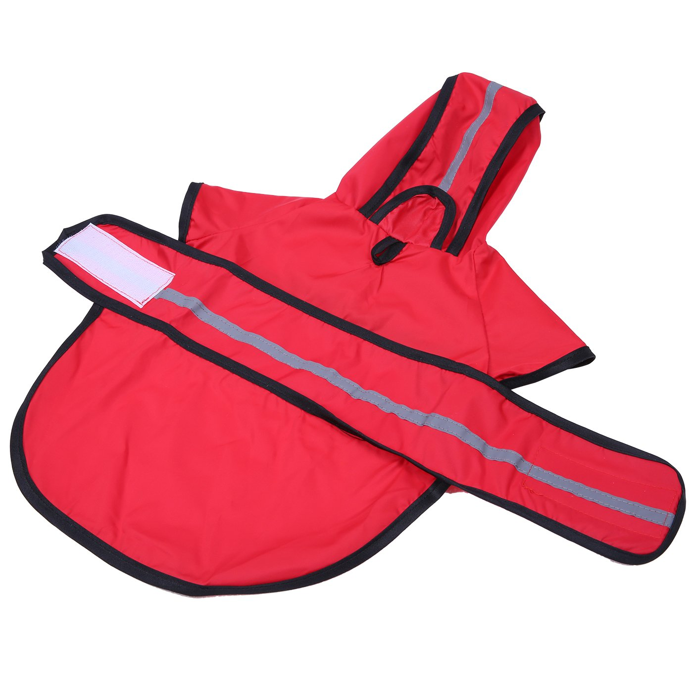 HDE Dog Raincoat Hooded Slicker Poncho for Small to X-Large Dogs and Puppies (Red, Medium) by HDE (Image #7)