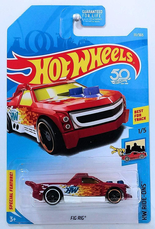 Dark Red Fig Rig Hot Wheels 2018 Basic Mainline Hw Ride-Ons