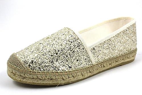 Vidorreta 00700 Hielo - Alpargatas para Mujer, Color Plateado, Talla 40: Amazon.es: Zapatos y complementos