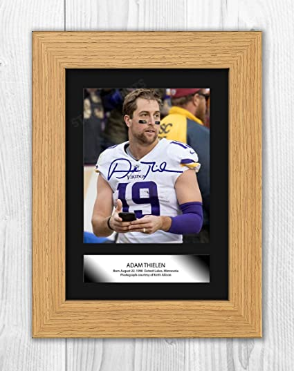 Amazon Com Engravia Digital Adam Thielen Minnesota Vikings