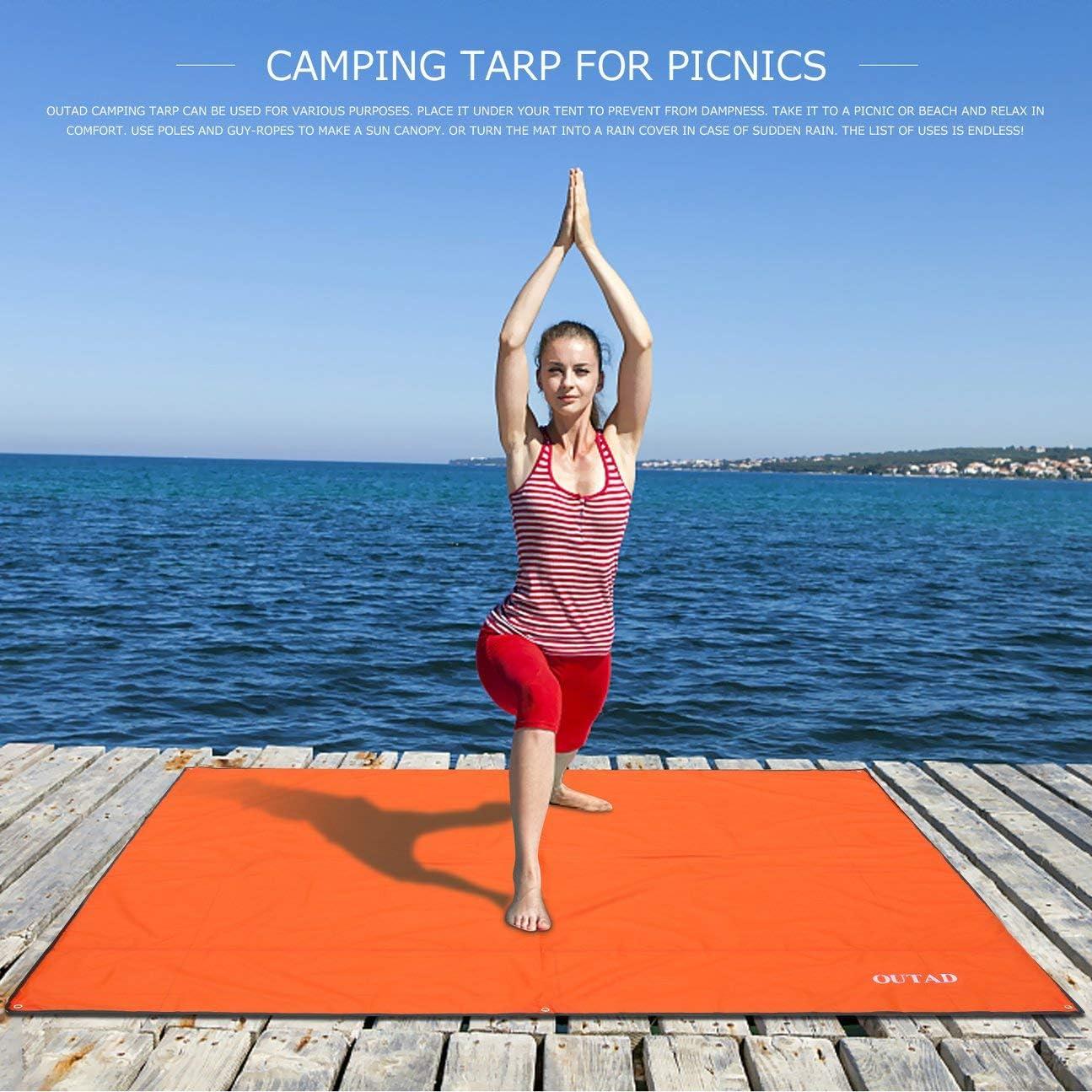 HIPENGYANBAIHU Multifunktionale wasserdichte kampierende Boden Tarp f/ür EIN Picknick Zelt Fu/ßabdruck und Sonnenschirm Camping Strand Picknick-Matte
