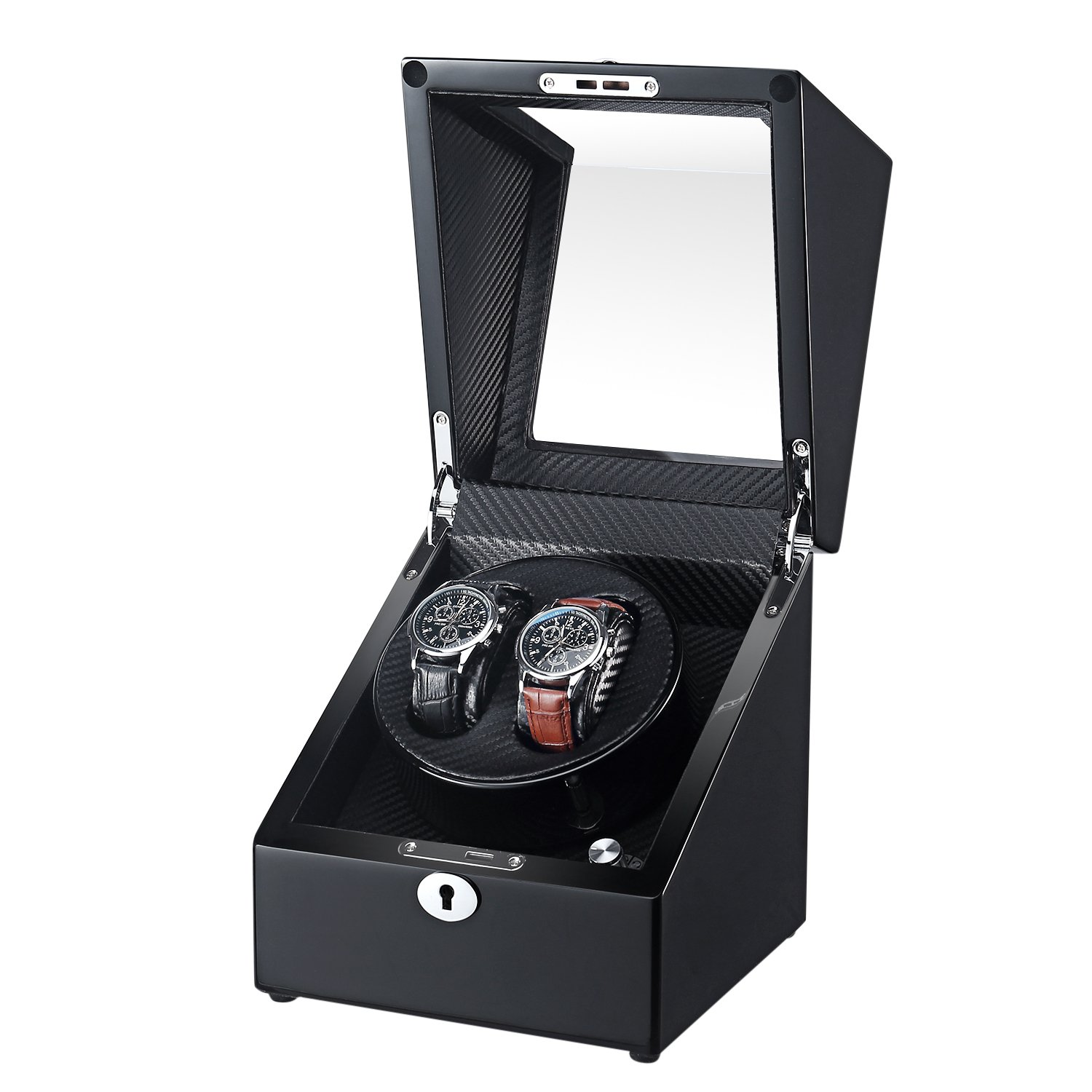 OLYMBROS Wooden Single rotor Automatic Double Watch Winder for 2 watches …