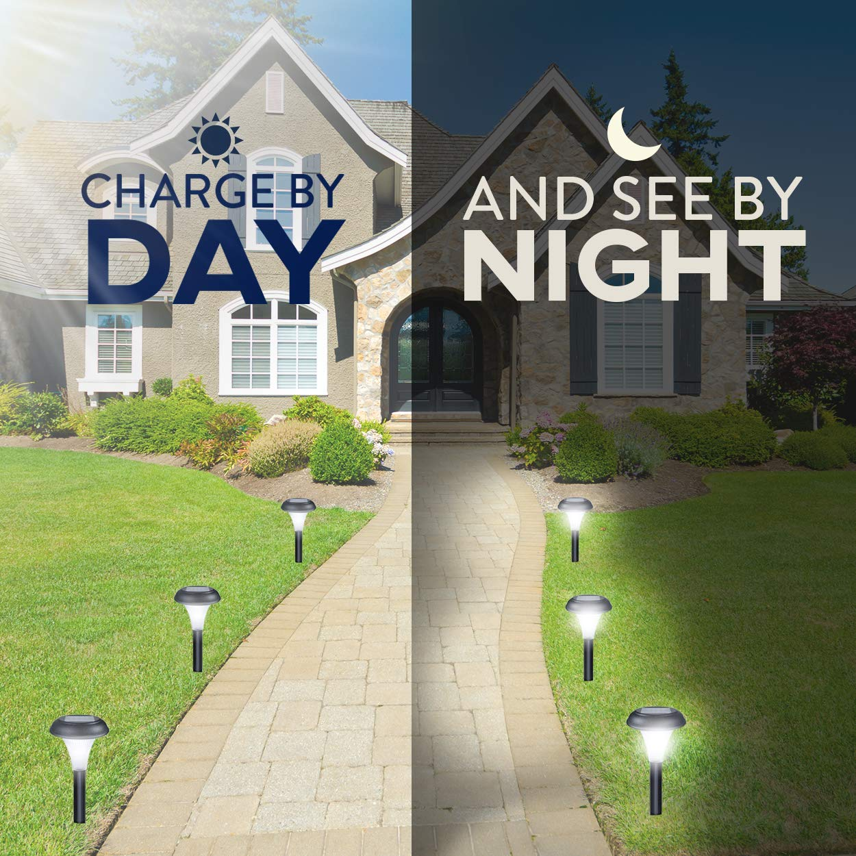 Lawn Yard Decor Double Waterproof Seal Large Led Landscape Outside Post Lighting Lamps Path Patio 10 Brightest Light Set For Walkway Garden GardenBliss Best Solar Lights For Outdoor Pathway