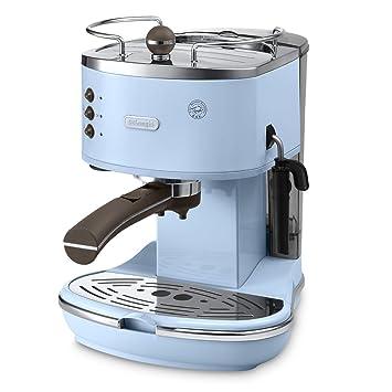 AZ Independiente Manual Máquina espresso 1.4L Azul - Cafetera (Independiente, Máquina espresso, 1,4 L, De café molido, Azul): Amazon.es: Hogar