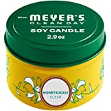 Mrs. Meyer's Clean Day Scented Soy Tin Candle, 12 Hour Burn Time, Made with Soy Wax and Essential Oils, Honeysuckle, 2.9 oz