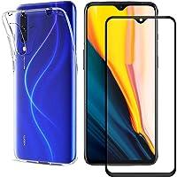 injoy Compatible with for Xiaomi Mi A3 Case Mi CC9e Case Xiaomi Mi A3 Screen Protector,[2 in 1] Transparent Soft TPU Phone Case + 9H Tempered Glass for Xiaomi Mi A3 (Transparent)