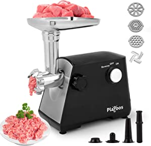 Electric Meat Grinder,【2000W Max 】3-IN-1 Stainless Steel Meat Mincer & Sausage Stuffer, Kubbe Kits Included, 3 Grinding Plates, Food Meat Grinder, Meat Grinder for Home Kitchen & Commercial Using