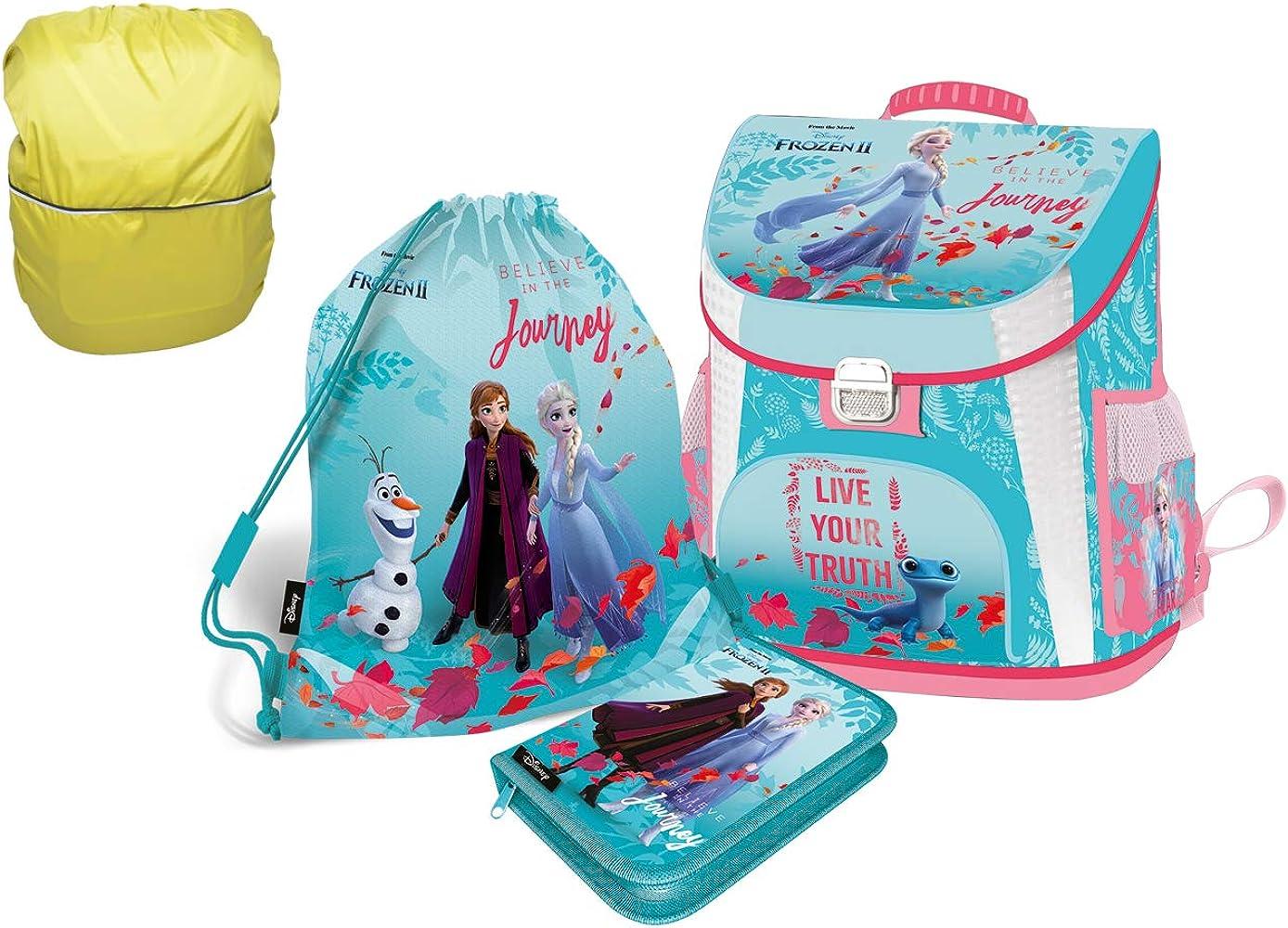 Frozen Anna Elsa - Juego de 4 mochilas escolares para niña 1 clase Tornister mochila escolar para primaria super ligera ergonómica y anatómica: Amazon.es: Ropa y accesorios