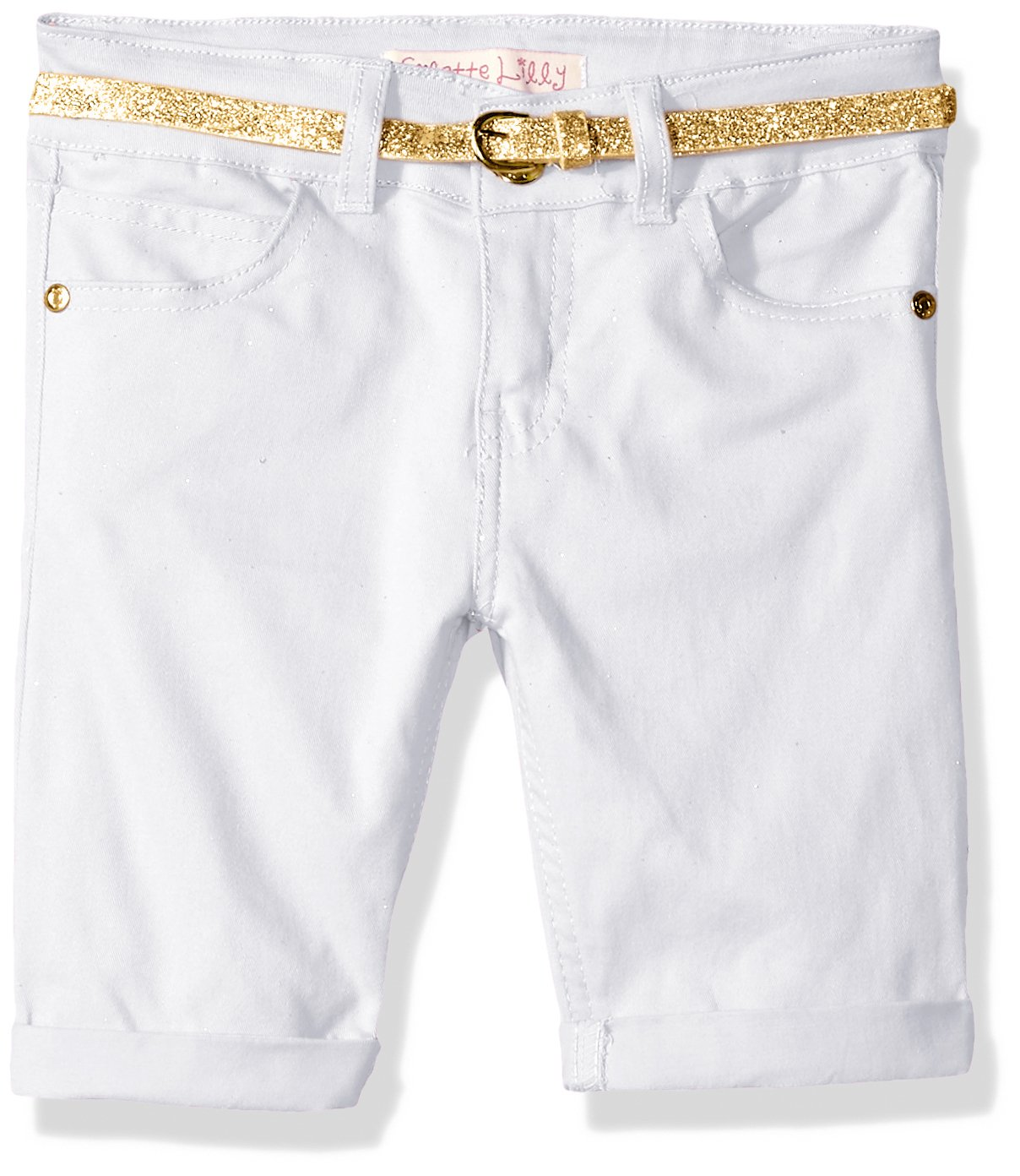 Colette Lilly Girls' Belted Twill Bermuda Short
