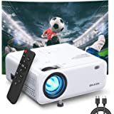 Mini Projector, EKASN Creative E450 Portable Video Projector Works for iPhone, 5500Lux 1080P HD and 200'' Supported Phone Pro
