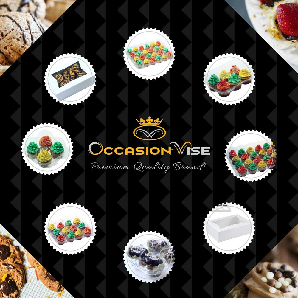 OccasionWise Premium Pastry and Cookie Bakery Box (8'' L x 5.75'' W x 2.5'' H) with Clear Viewing Window | Sturdy & Pop-Up to Assemble | Pack of 20 by OccasionWise (Image #4)