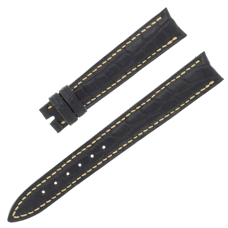 Franck Muller 14–12 mm echt Alligator Leder schwarz Armbanduhr Band